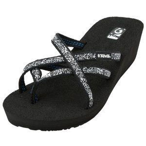 Teva mush mandalyn wedge sandals sz 11W
